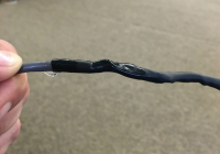 shrink tubing on wire